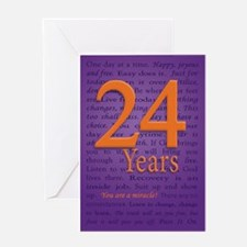 24 Year Recover Birthday Greeting Card