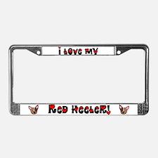 Love Red Heeler License Plate Frame