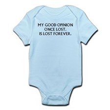 Darcy My Good Opinion Infant Bodysuit