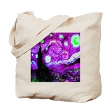 Starry Night in Sinful Cyan Tote Bag
