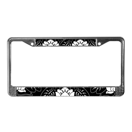 water-lily-motif_lpu.png License Plate Frame