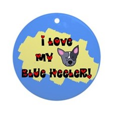 Love Blue Heeler Ornament (Round)