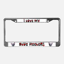 Love Blue Heeler License Plate Frame