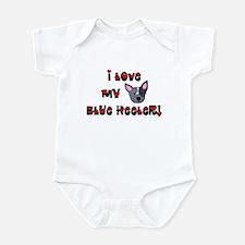 I Love My Blue Heeler Baby Bodysuit