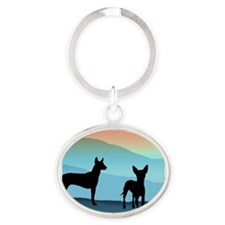 Blue Mountain Xolo Oval Keychain