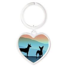 Blue Mountain Xolo Heart Keychain