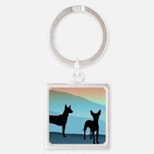 Blue Mountain Xolo Square Keychain