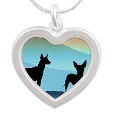 Blue Mountain Xolo Silver Heart Necklace