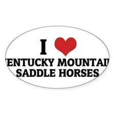 I Love Kentucky Mountain Sadd Sticker (Rectangular