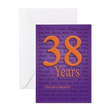 38 Year Recovery Birthday Greeting Card