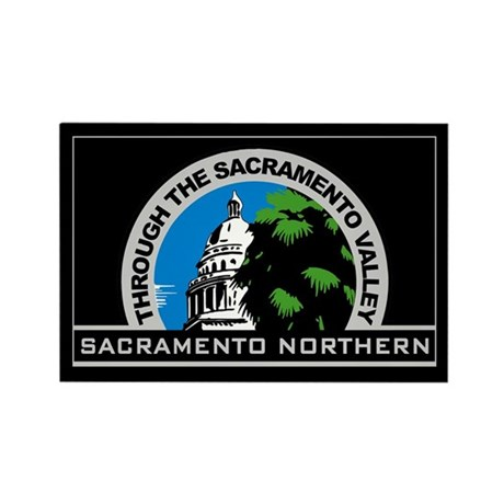 Sacramento Northern Rectangle Magnet