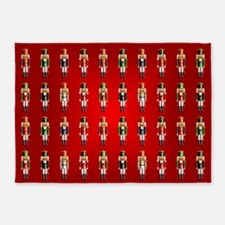Nutty Nutcracker Toy Soldiers 5'x7'Area Rug
