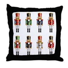 Nutty Nutcrackers Throw Pillow