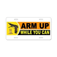 ARM UP_001.jpg Aluminum License Plate