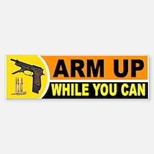 ARM UP_001.jpg Bumper Bumper Sticker