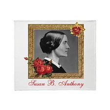Susan B. Anthony Throw Blanket