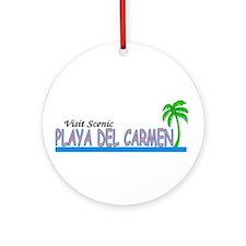 Cool Playa del carmen Ornament (Round)