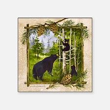 "Best Seller Bear Square Sticker 3"" x 3"""