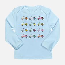 Vespa Piaggio Party Long Sleeve Infant T-Shirt