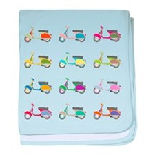 Vespa Piaggio Party baby blanket