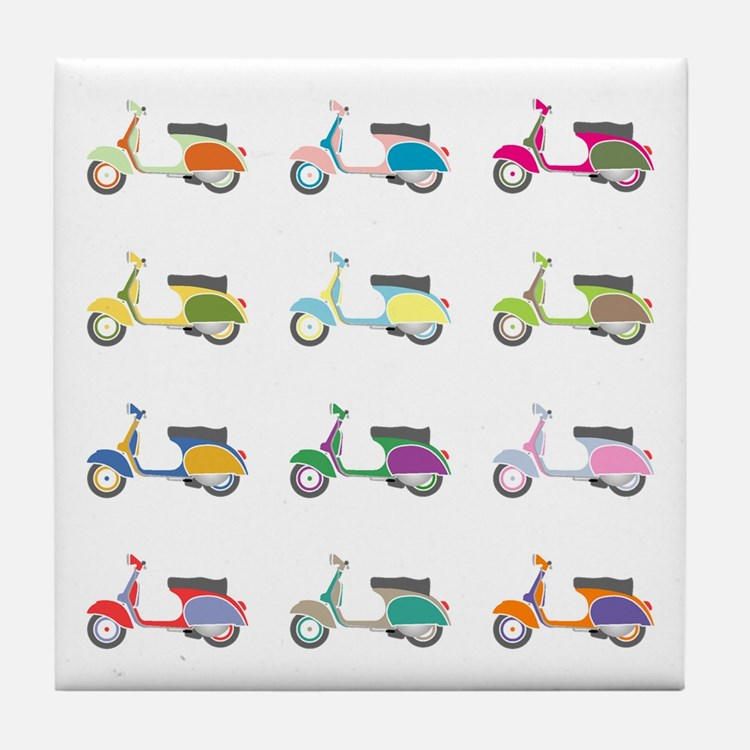 Vespa Piaggio Party Tile Coaster