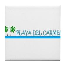 Funny Playa del carmen Tile Coaster