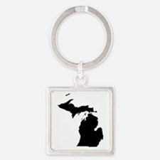Unique Charlevoix Square Keychain