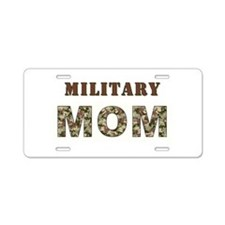 MILITARY MOM ONE.jpg Aluminum License Plate