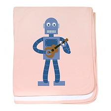 Ukulele Robot baby blanket