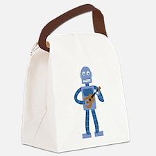 Ukulele Robot Canvas Lunch Bag