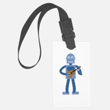 Ukulele Robot Luggage Tag