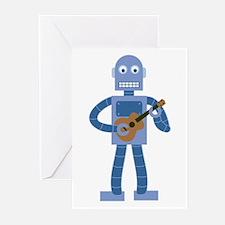 Ukulele Robot Greeting Cards (Pk of 10)