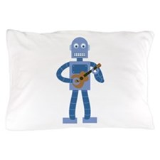 Ukulele Robot Pillow Case