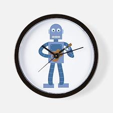 Ukulele Robot Wall Clock
