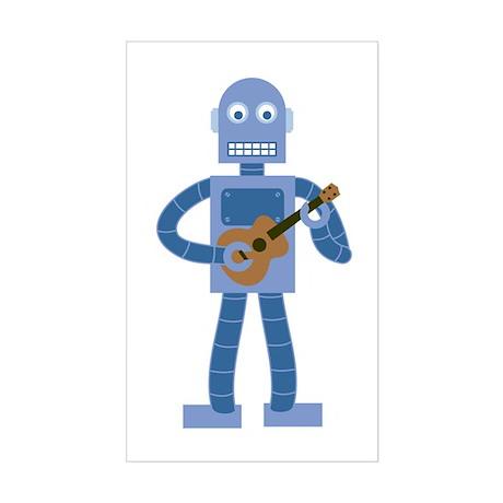 Ukulele Robot Sticker (Rectangle)