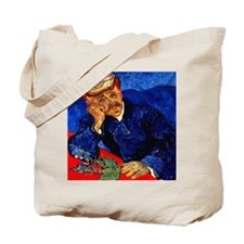 Dr. Gachet in Blue Tote Bag