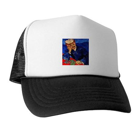 Dr. Gachet in Blue Trucker Hat