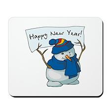 New Years Snowman Mousepad