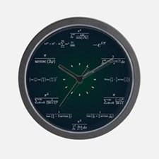 Math Clock (Dark Blue-Dark Green) Wall Clock