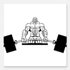 """Workout Beast Square Car Magnet 3"""" x 3"""""""