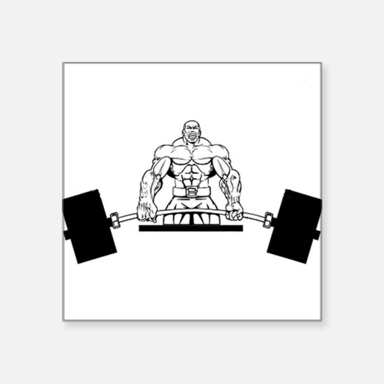 "Workout Beast Square Sticker 3"" x 3"""