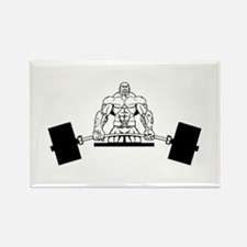 Workout Beast Rectangle Magnet