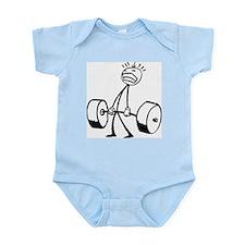 Never Quit: Workout Logo Infant Bodysuit