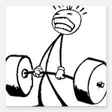 "Never Quit: Workout Logo Square Car Magnet 3"" x 3"""