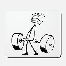 Never Quit: Workout Logo Mousepad