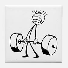 Never Quit: Workout Logo Tile Coaster