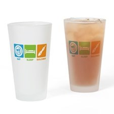 Funny Eat and sleep Drinking Glass
