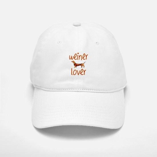 WEINER LOVER Baseball Baseball Cap