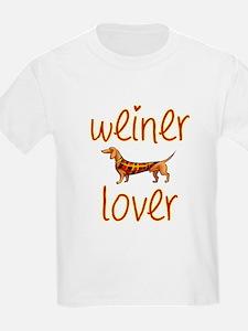 WEINER LOVER Kids T-Shirt