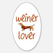 WEINER LOVER Oval Decal